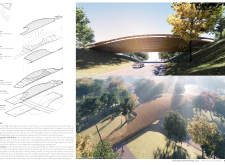 1ST PRIZE WINNER gaujafootbridge architecture competition winners