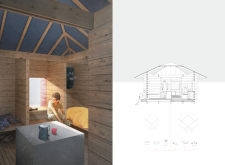 2ND PRIZE WINNER+  BB STUDENT AWARD amberroadtrekkingcabins architecture competition winners