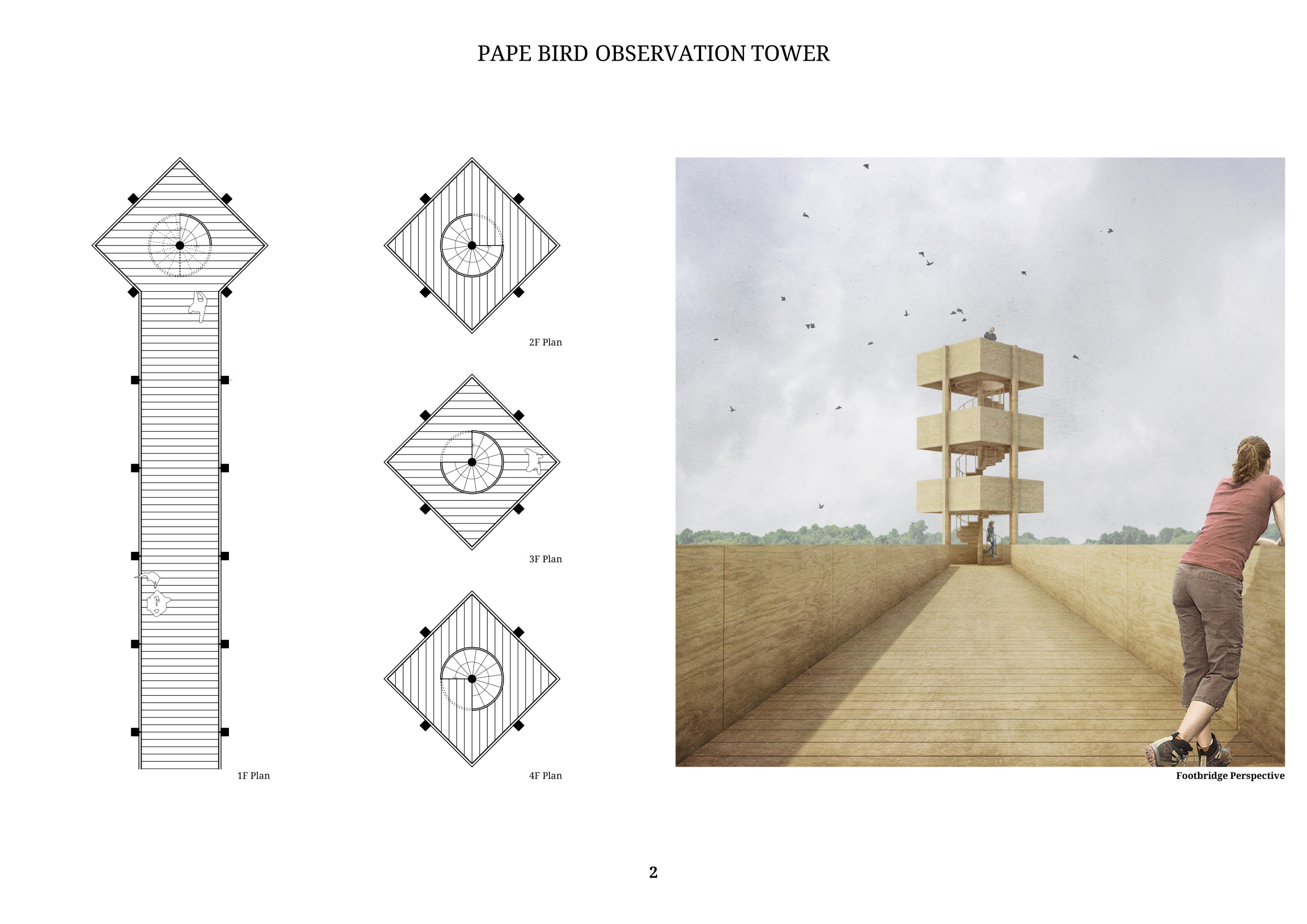 Pape Bird Observation Tower Competition Winners Heart Diagram Full Size